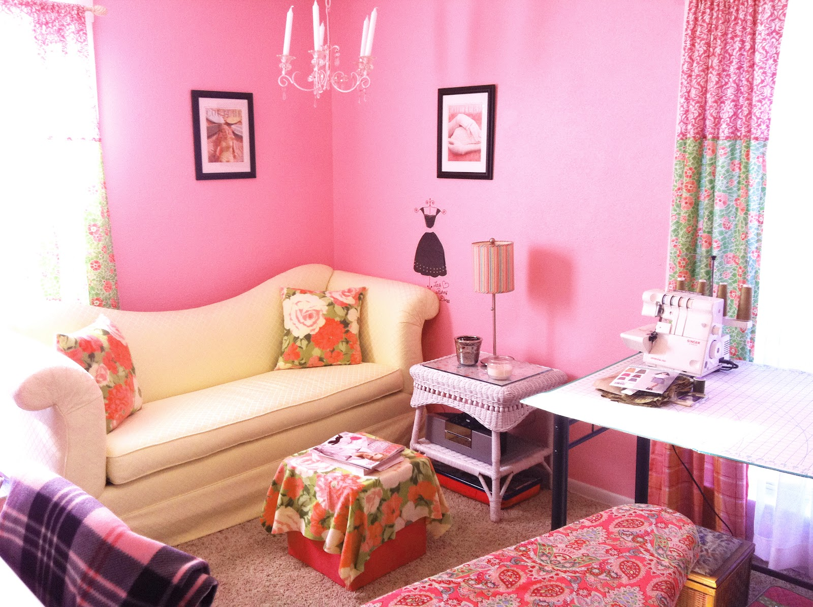 Fan Feature Pretty In Pink Sewing Room