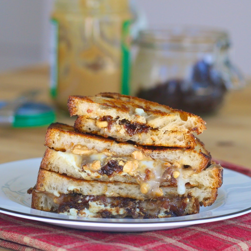 P Is For: PB&J Grilled Cheese With Bacon Jam