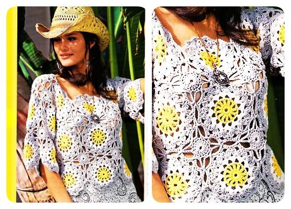 Prendas tejidas con motivos circulares de Crochet