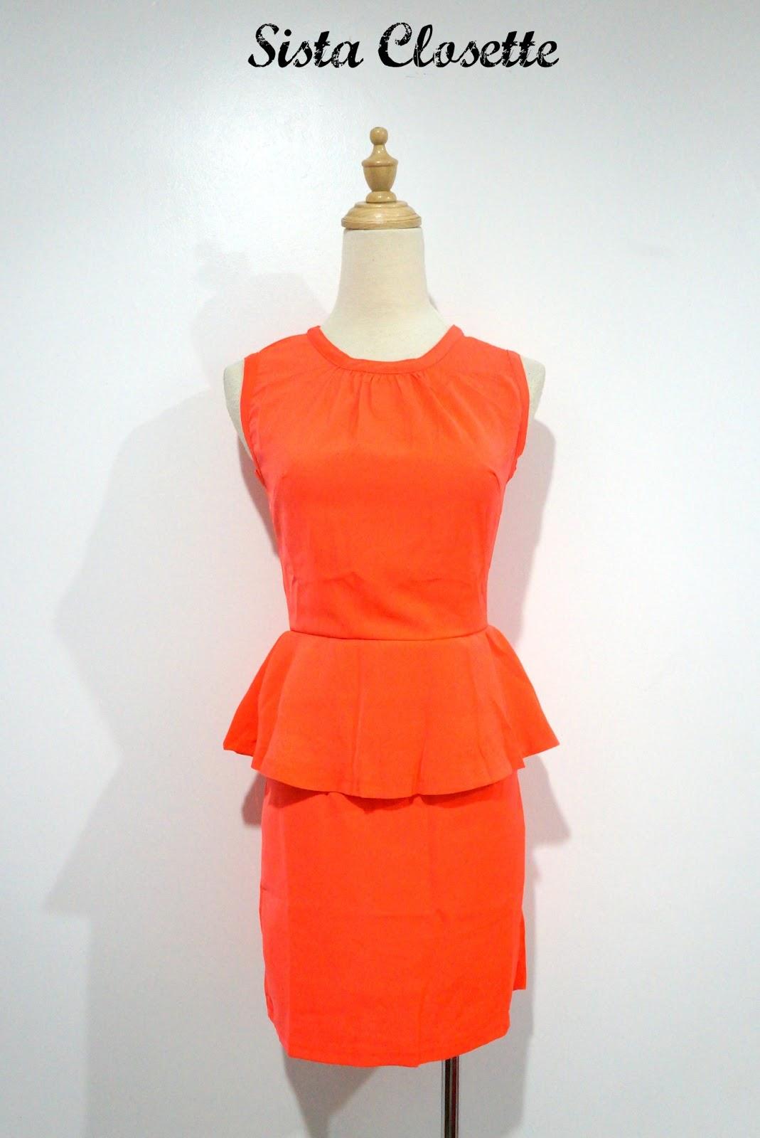 Sista Closette Back Exposed Zipper Peplum Dress