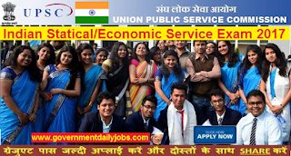 UPSC IES/ ISS Exam 2017 Apply Online for 44 Posts