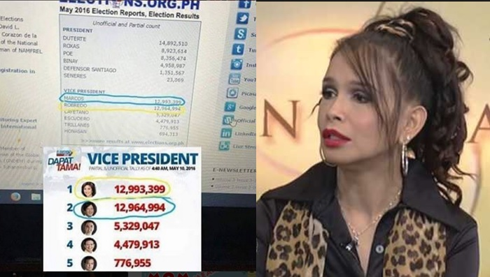 Melanie Marquez alleges cheating in vice presidential elections