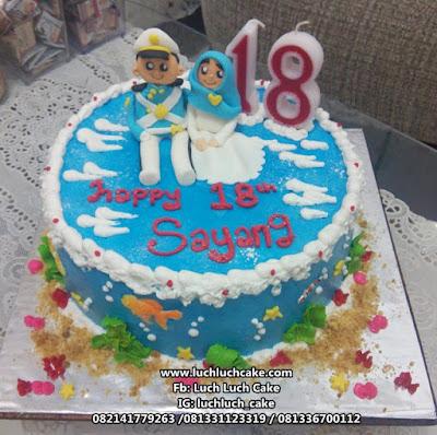 Kue Tart Ulang Tahun Tema Angkatan Laut