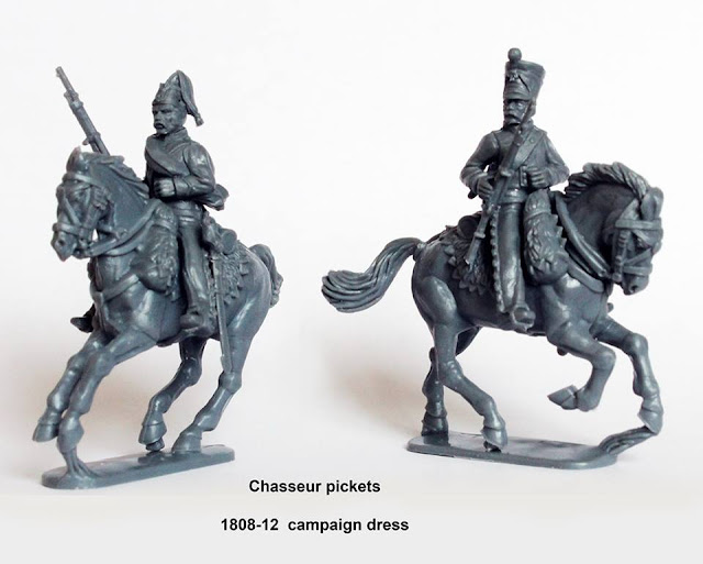 Breaking! Perry Miniatures: First Shots of New Plastic Line Chasseurs a Cheval Assembled and On Sprues