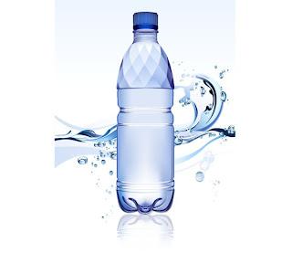 Free Vector がらくた素材庫: 透明な水とボトル blue ...  透明な水とボトル