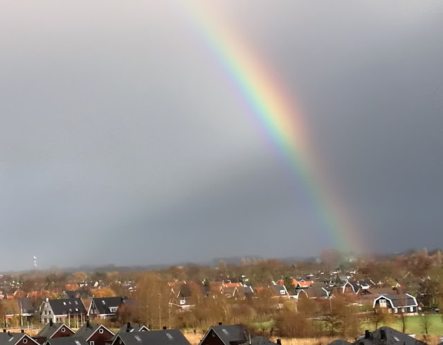 Spectacular rainbows over Alkmaar North Holland  1