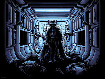 "Star Wars ""I Find Your Lack Of Faith Disturbing"" Variant Screen Print by Dan Mumford x Dark Ink Art"