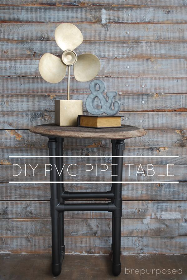 BrePurposed- DIY PVC Pipe Table-Treasure Hunt Thursday-From My Front Porch To Yours