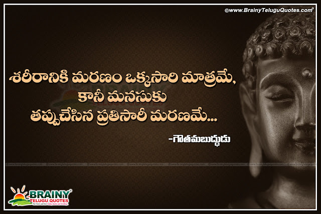 Best Lord Buddha Inspirational: Best Telugu Gautama Buddha Quotations