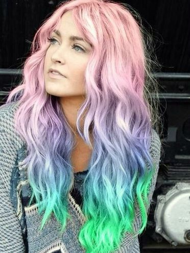 tendencias pelo color unicornio
