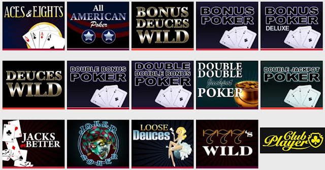 Video POker Games at Club Player Casino