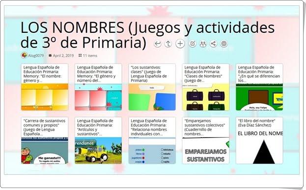 """""""11 juegos y actividades para el aprendizaje de LOS NOMBRES en 3º de Primaria"""""""