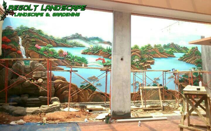 Jasa Pembuatan Dekorasi Kolam Tebing, Dekorasi Relif Air Terjun Di Tuban