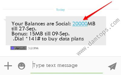 Airtel 20GB for 200 Naira