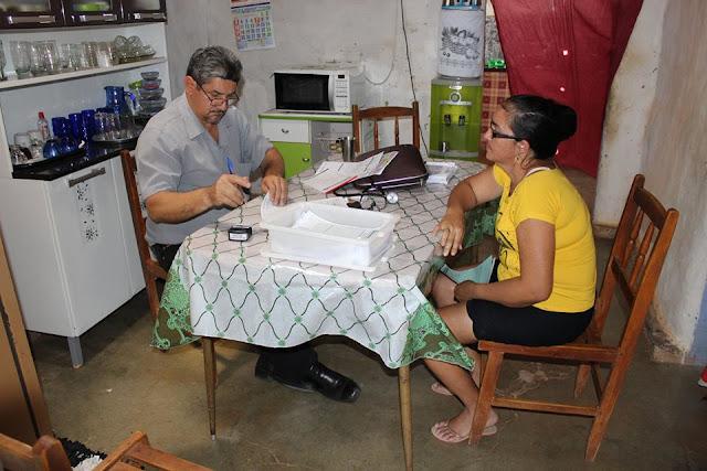 Comunidade de Campos Novos, recebeu o atendimento médico do PSF do Olho d'Água da Bica