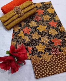 Kain Batik dan Embos 472a1 Coklat