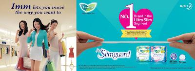 KAO Laurier Super Slimguard Active Fit Pantyliner Deodorant