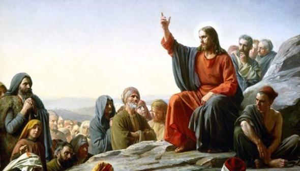 ilustración de jesucristo predicando a varios discípulos