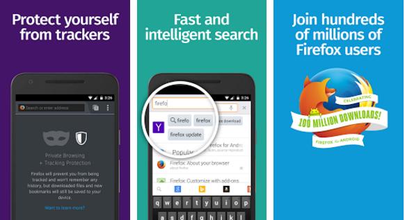 تنزيل برنامج فايرفوكس للاندرويد Firefox Android أخر اصداره الجديد