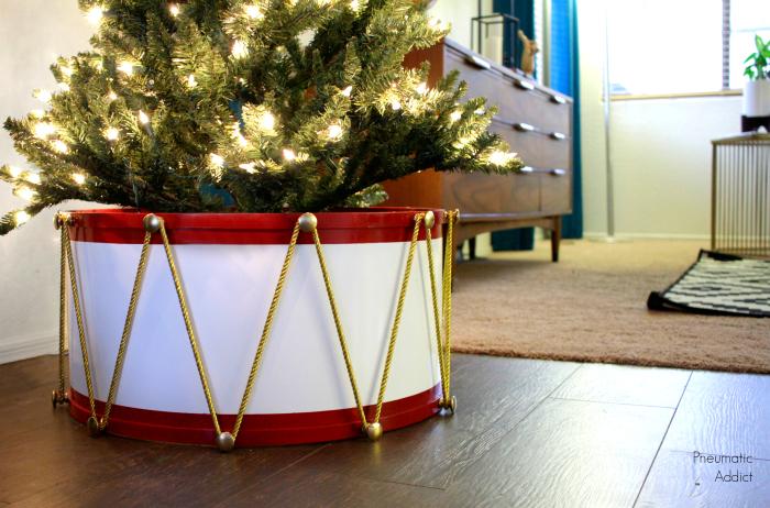 Easy christmas tree drum skirt video tutorial