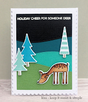 Deer Friend and Oh Christmas Trees stamp sets and Die-namics and Stitched Snow Drifts - Caroline Paton #mftstamps