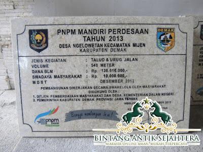 Contoh Prasasti Marmer , Prasasti Marmer Surabaya