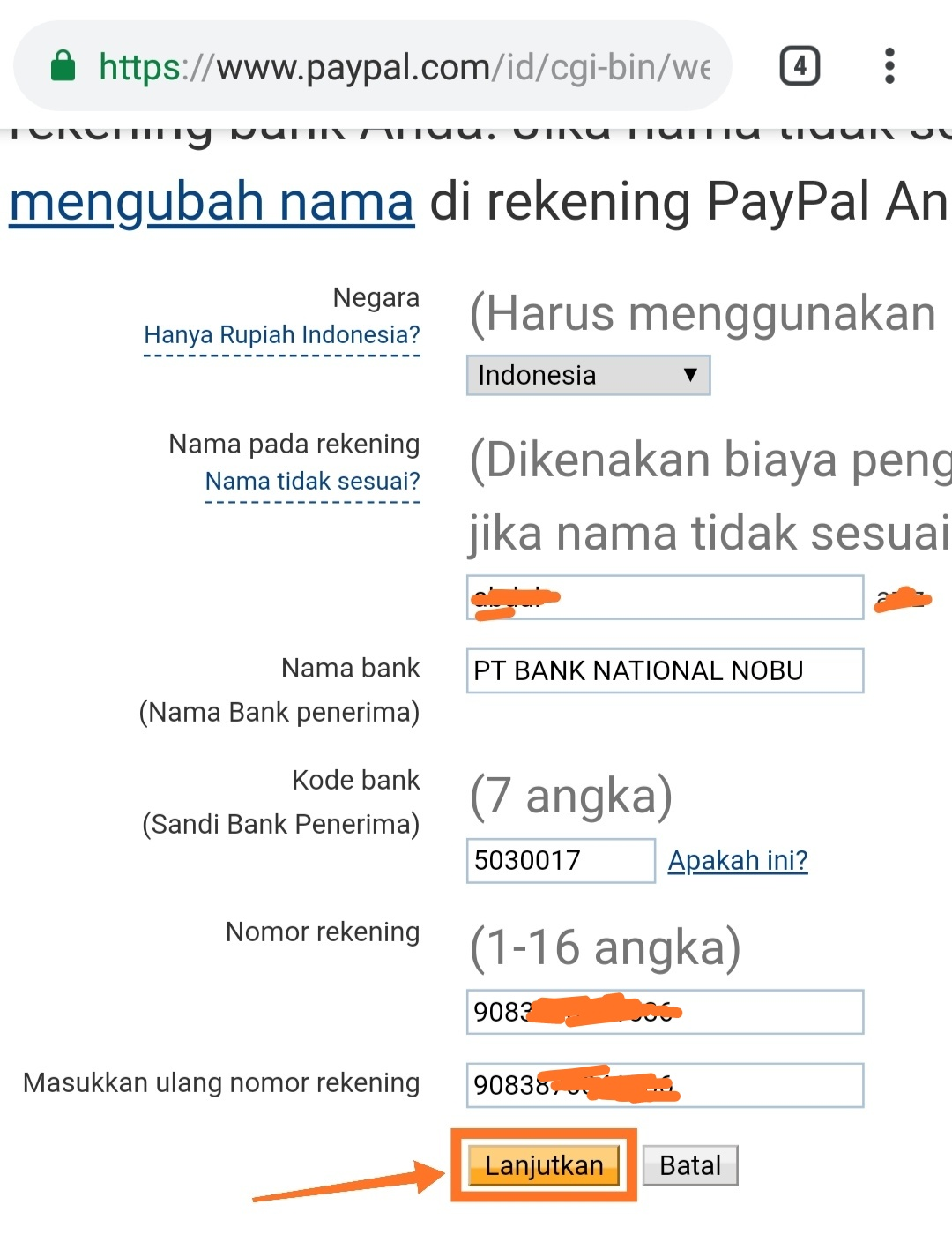 cara add bank ovo ke Paypal