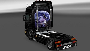 Scania RJL Lone Wolf paintjob by Dragan007