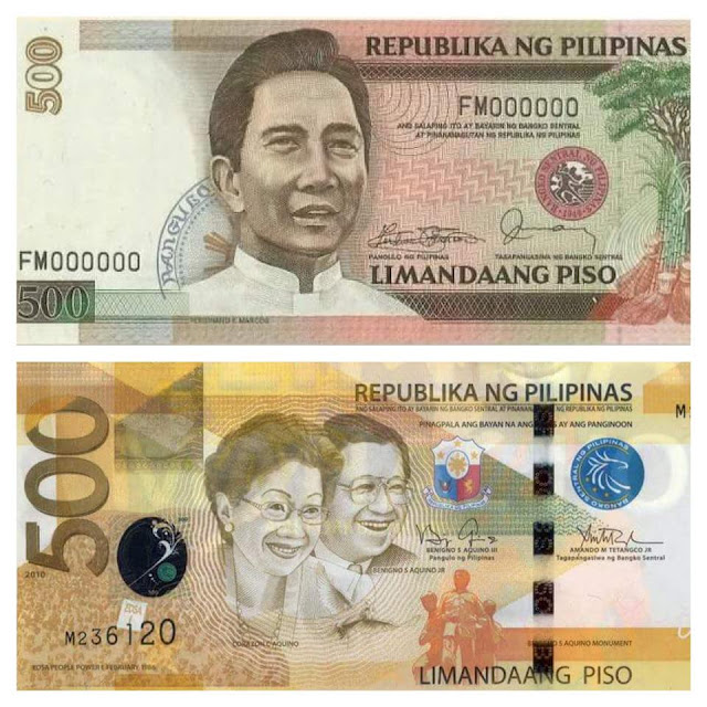 Netizens Propose to Replace the Aquino Couple's Image with Ferdinand Marcos On The 500-Peso Bill!
