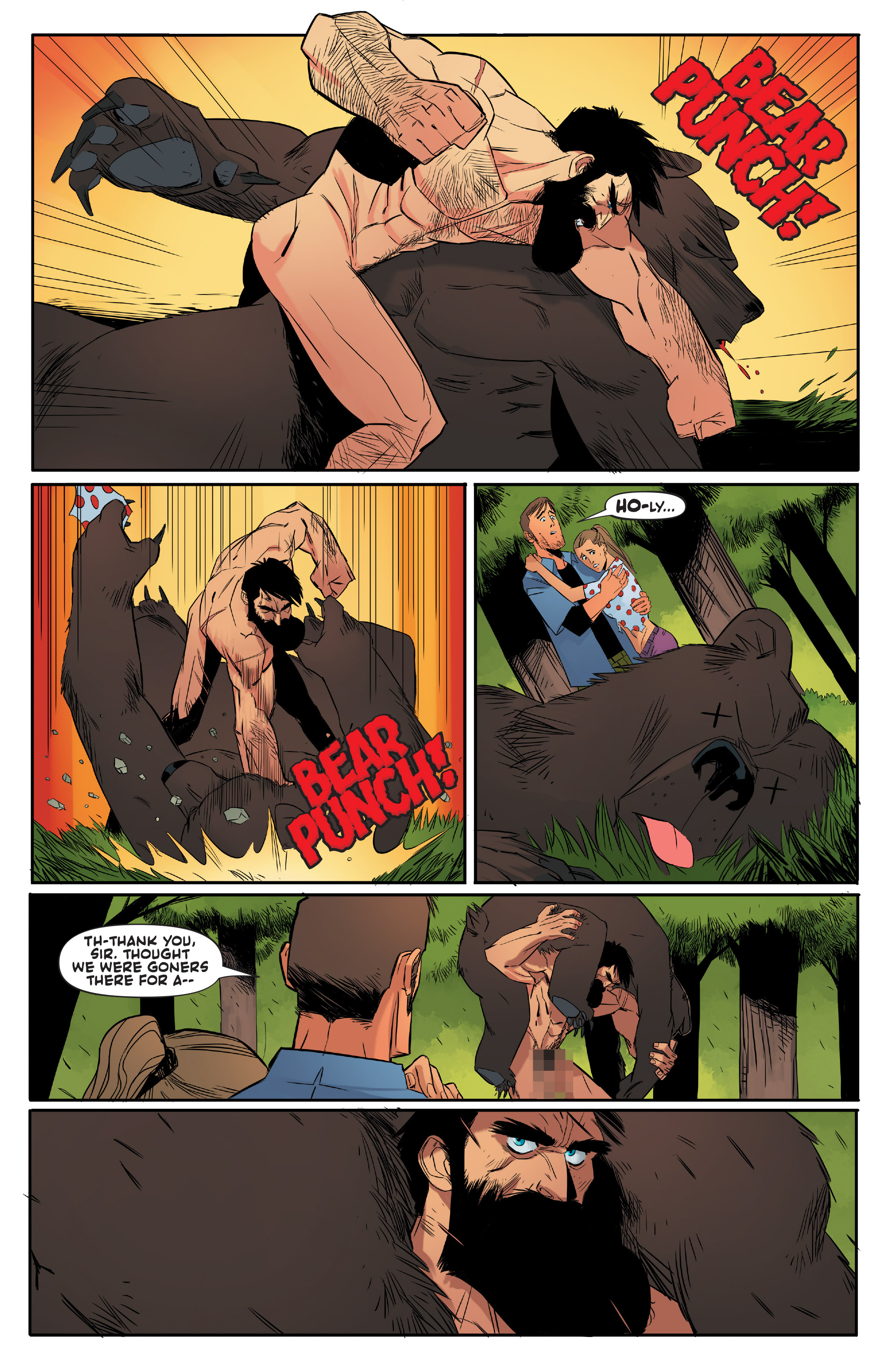 Read online Shirtless Bear-Fighter! comic -  Issue #1 - 9