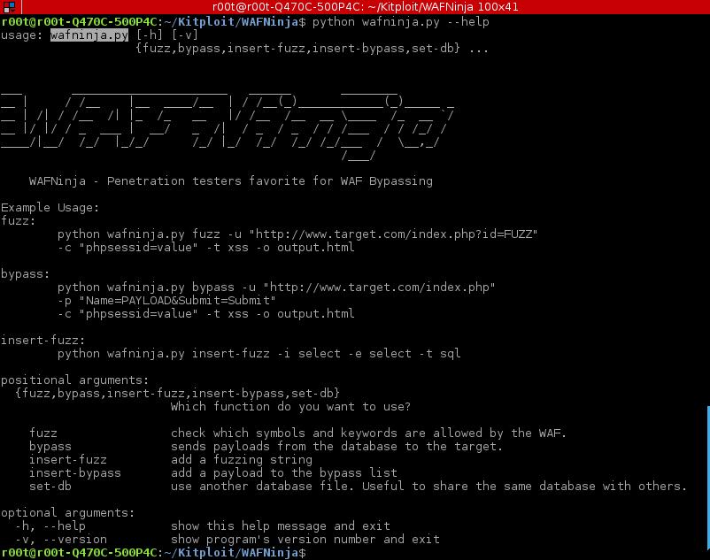 WAFNinja - Penetration testers favorite for WAF Bypassing