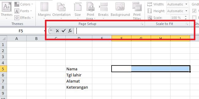 Cara Merubah Data Vertikal ke Horizontal atau sebaliknya pada Micorsoft Excel dengan Rumus/Formula - Fokuskan Cursor ke tempat Input Rumus\Formula - infoawak.com