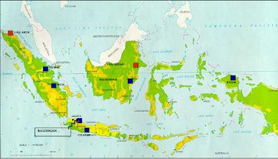 Peta Lokasi Kilang-Kilang Milik Pertamina