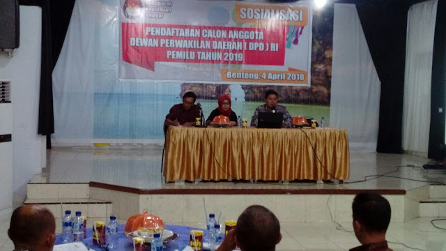 KPU Selayar Gelar Sosialisasi, Pendaftaran Calon DPD RI