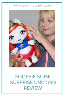 Brushing Poopsie's hair, the slime surprise unicorn for children review