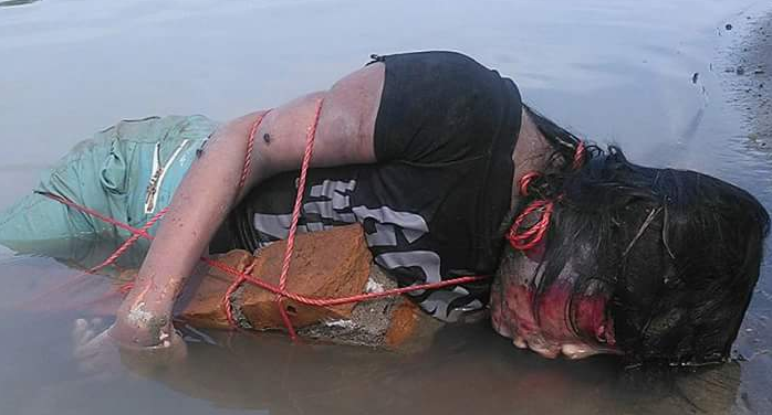Hallet Bunting, Baluhap ikat pacarnya dan campakkan ke sungai, Lihat foto-fotonya... ngeri