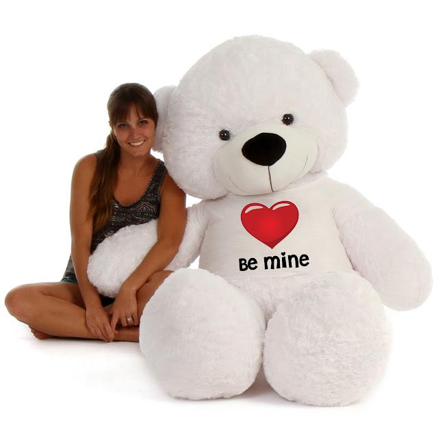 Coco Cuddles White Giant Teddy Bear
