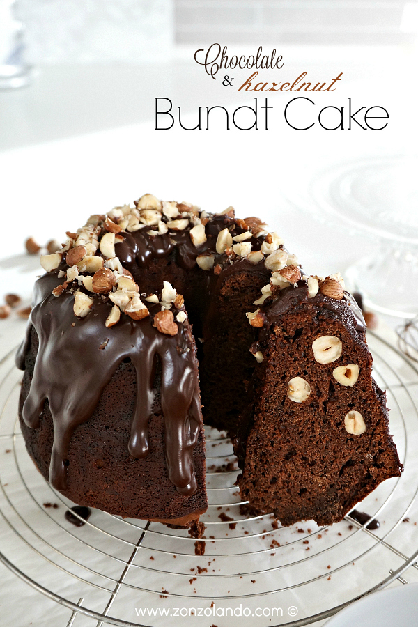 Ricetta ciambella al cioccolato e nocciole senza burro light chocolate and hazelnut bundt cake amazing recipe