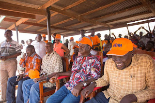 Hon Raila Odinga in Turkana preaching about NASA and ODM. PHOTO | Courtesy RAO