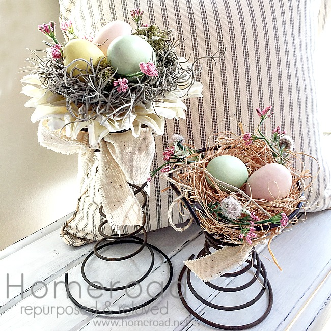 DIY Beautiful Vintage Bed Spring Centerpieces to make yourself