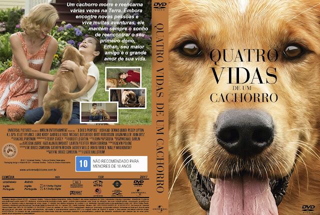 Capa DVD Quatro Vidas De Um Cachorro [Exclusiva]