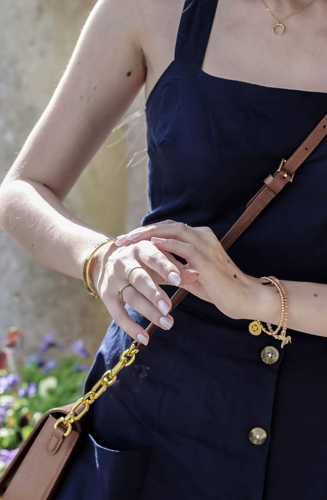 Fashion Blogger Gold Accessory Details