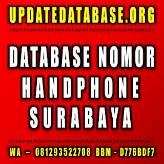 Jual Database Nomor Handphone Surabaya