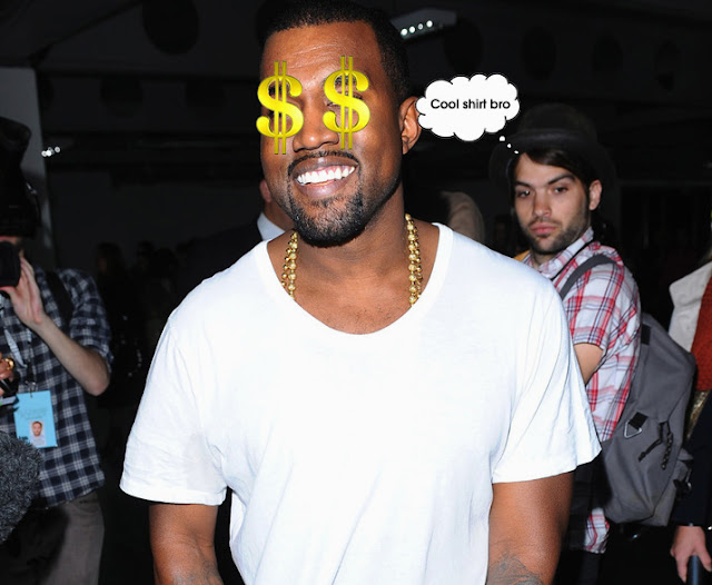 "Kanye West's $120 Plain White ""Hiphop"" T-Shirt"