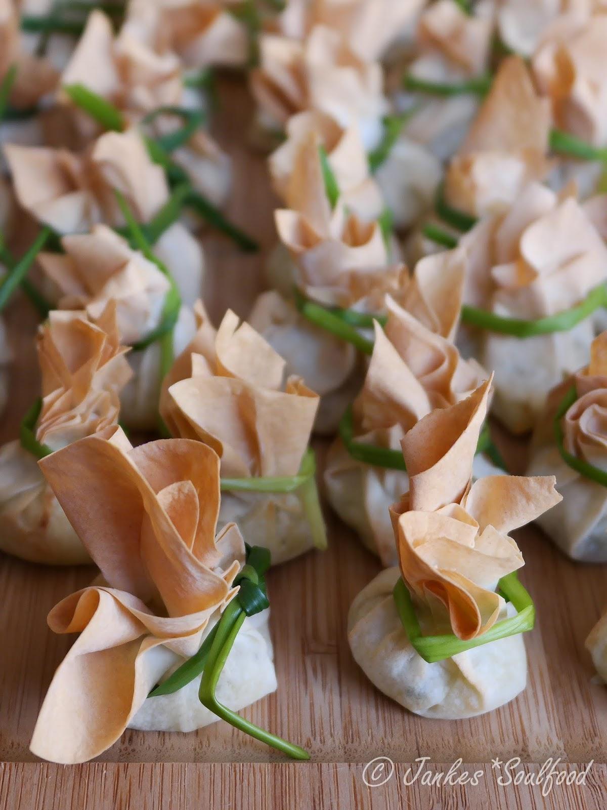 Kleine Kartoffelstrudel als Fingerfood