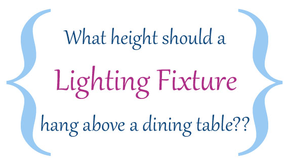 ROOMS: Design Tips: Hanging a Lighting Fixture over a Dining Table