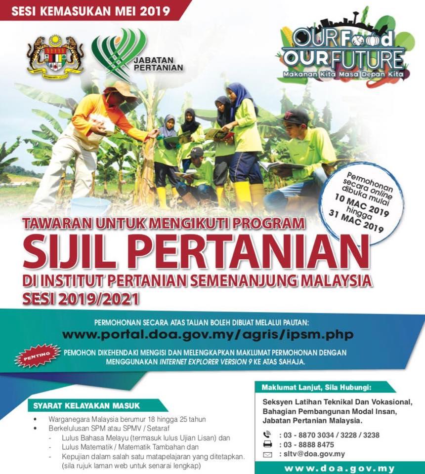 Permohonan Institut Pertanian 2019