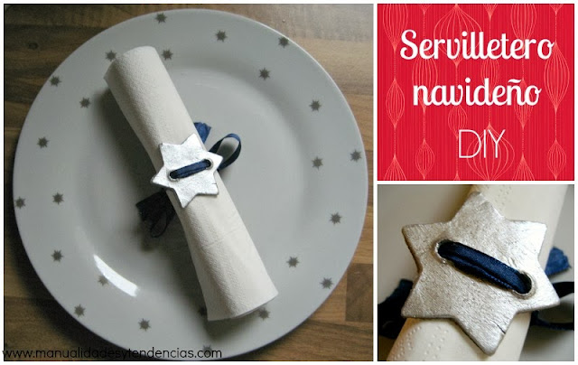 DIY servilletero navideño / Christmas napkin ring / anneau de serviette de table pour Noël