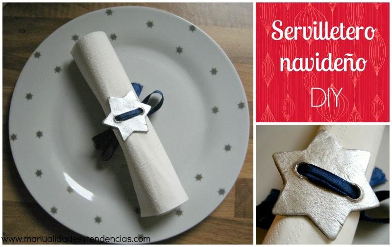 DIY servilletero navideño / Christmas napkin ring / anneau de serviette de table pour Noël