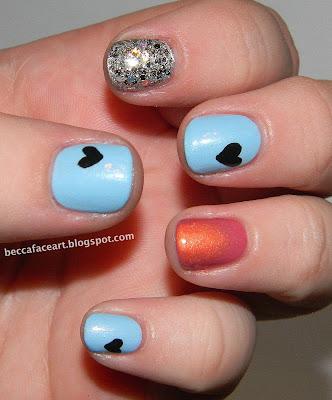 becca face nail art marina and the diamonds nails